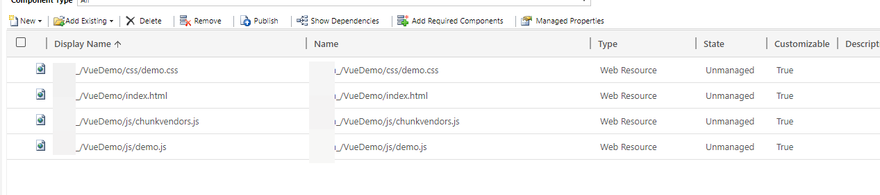 Building Dynamics 365 Web Resources with Vue JS and NPM