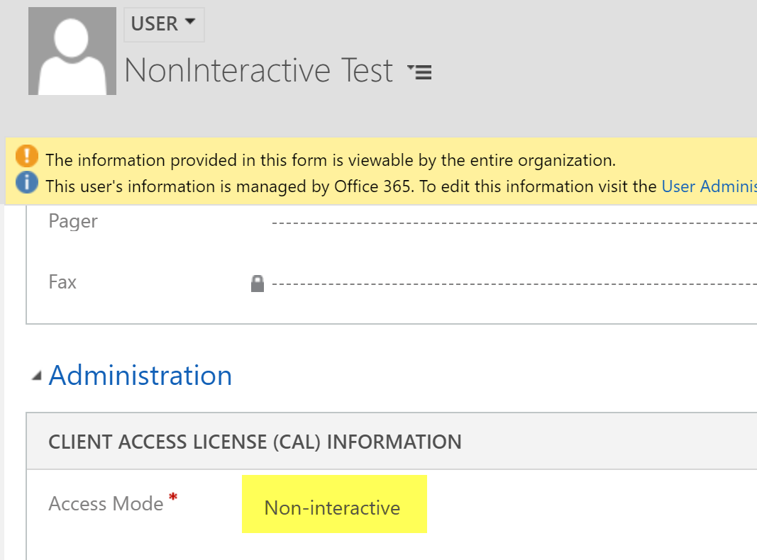 Creating a Non Interactive User Account in Dynamics 365